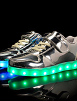 Boys' Shoes Patent Leather Customized Materials All Season Light Up Shoes Comfort Sneakers Magic Tape LED Lace-up For Casual Outdoor Pink