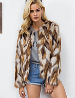 Long Sleeves Faux Fur Wedding Party / Evening Women's Wrap Coats / Jackets