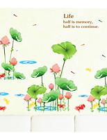Цветы Пейзаж Винтаж Наклейки 3D наклейки Декоративные наклейки на стены,Бумага материал Украшение дома Наклейка на стену
