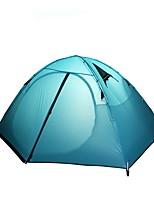 preiswerte -2 Personen Zelt Kabinenzelt Doppel Camping Zelt Einzimmer Zelte für Rucksackreisen Windundurchlässig Regendicht Leicht Winter Sport