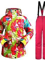cheap -Women's Ski Jacket with Pants Warm Ventilation Windproof Wearable water-resistant Ski / Snowboard Multisport Winter Sports Snowshoeing