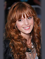 Women Human Hair Capless Wigs Medium Auburn/Bleach Blonde Medium Auburn Black Long Wavy