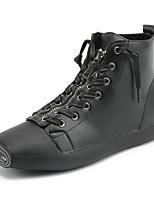economico -Da donna Scarpe Finta pelle Primavera Autunno Innovativo Sneakers Piatto Punta tonda A pieghe per Casual Bianco Nero