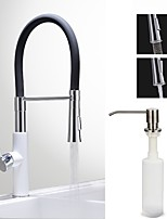Centerset Ceramic Valve Chrome , Kitchen faucet