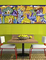 Недорогие -Цветочные мотивы/ботанический Пейзаж Иллюстрации Предметы искусства,ПВХ материал с рамкой For Украшение дома Предметы искусства в рамках