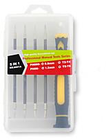 Недорогие -Сотовый телефон Набор инструментов для ремонта 5 в 1 Отвертка Инструменты для ремонта Сотовый телефон
