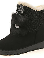 cheap -Women's Shoes Fleece Winter Snow Boots Boots Round Toe For Outdoor Dark Brown Gray Black