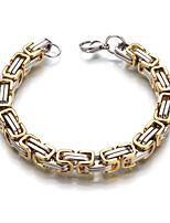 Homme Femme Chaînes & Bracelets Grande occasion Classique Acier inoxydable Forme Géométrique Bijoux Pour Mariage Décontracté