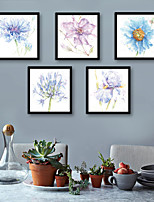 preiswerte -Botanisch Blumenmuster/Botanisch Darstellung Wandkunst,PVC Stoff Mit Feld For Haus Dekoration Rand Kunst Wohnzimmer Küche Esszimmer