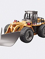 RC Car HUINA 586 2.4G Excavator Construction Truck 1:18 10 KM/H Remote Control Rechargeable Electric