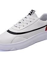 preiswerte -Herren Schuhe Gummi Frühling Herbst Komfort Sneakers Walking Booties / Stiefeletten Band-Bindung Für Weiß Schwarz