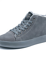 cheap -Men's Shoes Leatherette Spring Winter Fluff Lining Comfort Sneakers For Casual Office & Career Gray Black