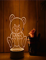 1 Set Of 3D Mood Night Light Hand Feeling Dimmable USB Powered Gift Lamp Bear