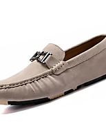 Masculino sapatos Couro Ecológico Primavera Outono Conforto Mocassins e Slip-Ons Para Preto Cinzento Khaki