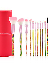 cheap -12 pcs Makeup Brush Set Synthetic Hair Professional Soft Travel Size Wooden Eye Face Nose