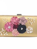 cheap -Women Bags Polyester Evening Bag Flower(s) for Wedding Event/Party All Season Gold Black Silver