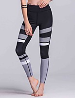 cheap -Women's Medium Stitching Solid Color Legging,Striped Floral Solid
