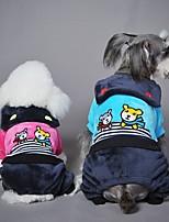 Perro Mono Ropa para Perro Casual/Diario Caricaturas Azul Rosa Disfraz Para mascotas