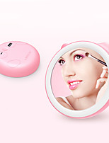 BRELONG 18LED Makeup Mirror Night Light Mobile Power Portable Light Filling Lighting 1500mA Pink Green White