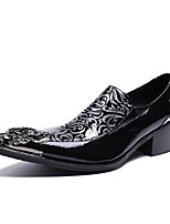 Men's Shoes Cowhide Leather All Season Novelty Loafers & Slip-Ons For Wedding Party & Evening Black