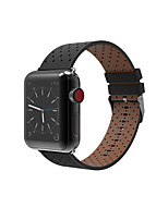 cheap -For Apple Watch Series 3 2 1 Genuine Leather Replacement Strap Wrist Bands 38 42mm