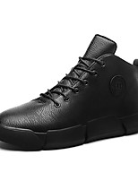 cheap -Men's Shoes PU Fall Winter Comfort Sneakers For Casual Black