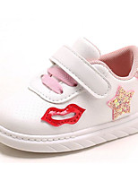 cheap -Girls' Shoes Leatherette Spring Fall Comfort Sneakers For Casual Pink Green Black