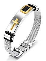 Men's Bangles Fashion Vintage Titanium Steel Cross Jewelry For Wedding Party