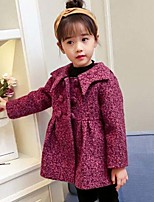 Girls' Solid Suit & Blazer,Rayon Polyester Long Sleeves Casual Purple