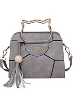 Women Bags PU Tote Zipper Tassel for Outdoor All Season Black Blushing Pink Gray Wine