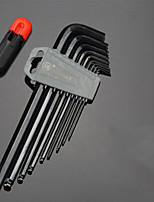 Lengthened Allen wrench set round head T-type 5MM / 3MM6 angle combination screwdriver nine sets of tools ball head Features * 1 3306T