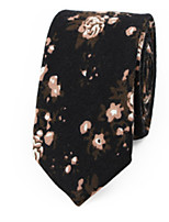 cheap -Men's Cotton Neck Tie,Casual Print All Seasons
