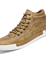 Men's Shoes Real Leather Nappa Leather Winter Comfort Sneakers For Casual Green Brown Black
