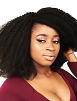 cheap -Human Hair Kinky Curly Natural Color Hair Weaves Hair Extensions 1pc Black