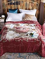 Недорогие -Коралловый флис,Активный краситель Цветочный Акриловое волокно одеяла