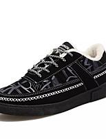 cheap -Men's Shoes Fabric Winter Comfort Sneakers For Casual Black/Blue Black/Red Black/White