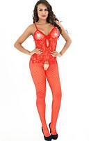 Costumes Vêtement de nuit Femme,Sexy Dentelle Jacquard Polyester Spandex