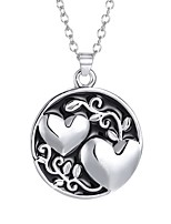 Women's Pendant Necklaces Circle Heart Alloy Love Friendship Jewelry For Party Daily