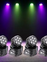 U'King 4pcs Lampe LED de Soirée DMX 512 Master-Slave Activé par son Auto 70 pour Mariage Boîte de Nuit Extérieur Soirée Etape