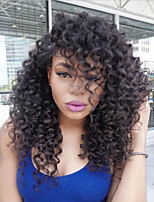 cheap -Hot Sale 100% Brazilian Human Hair Lace Front Wig Factory Price Kinky Curly 150% High Density Lace Wig-glueless with Baby Hair For Black Woman