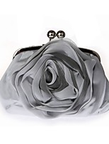 cheap -Women Bags Silk Evening Bag Lace for Event/Party All Season White Black Silver Beige