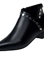 abordables -Mujer Zapatos Ante Invierno Confort Botas de Moda Botas Dedo Puntiagudo Botines/Hasta el Tobillo Para Casual Negro