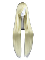 40inch Long Straight Loveless Agatsuma Soubi Wig Synthetic Yellow Anime Cosplay Wigs CS-035Y