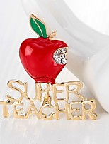 Men's Women's Brooches Rhinestone Simple Basic Rhinestone Alloy Apples Jewelry For Christmas