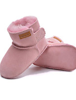 cheap -Girls' Shoes Suede Winter Fall Comfort Snow Boots Boots Walking Shoes Mid-Calf Boots Magic Tape For Casual Almond Pink Coffee Fuchsia Gray
