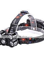 U'King Headlamps LED 5000 lm 4 Mode XM-L2 T6 Portable Durable Camping/Hiking/Caving Everyday Use Cycling/Bike Hunting Fishing Black