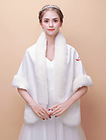 cheap -Sleeveless Faux Fur Wedding Party / Evening Women's Wrap With Embroidered Shawls