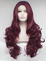 cheap -Women Synthetic Wig Lace Front Medium Length Long Red Natural Wigs Costume Wig