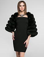 3/4 Length Sleeves Faux Fur Wedding Party / Evening Women's Wrap Coats / Jackets