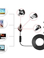 8mm Lens 1M Hard Cable 3 In 1 Android Endoscope USB Camera Inspection Borescope IP67 Waterproof Snake Cam for PC Windows
